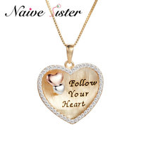 925 Sterling Silver Heart Pendant Necklace Fashion Necklaces Tiny AAA zircons Surrounded Valentine's Day Gift Wholesale Jewelry