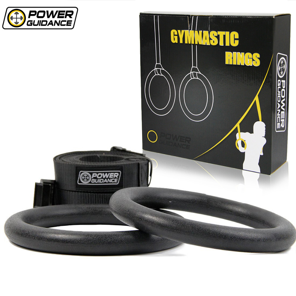 Adjustable Portable Gymnastic Rings and Straps - For Upper Body Strength & Bodyweight Muscle Excercising, Crossfit, GYM