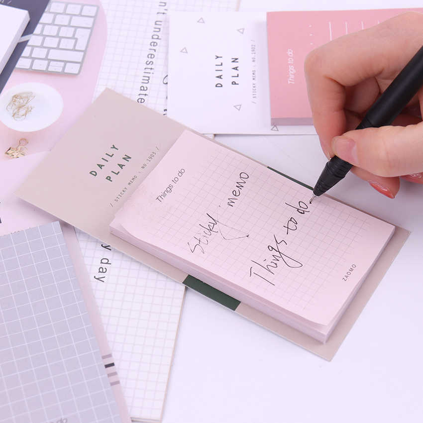 1PC ใหม่ Work Plan Kraft กระดาษเครื่องเขียน Memo Pad Creative Notepad Sticky Notes อุปกรณ์โรงเรียนกระดาษสติกเกอร์
