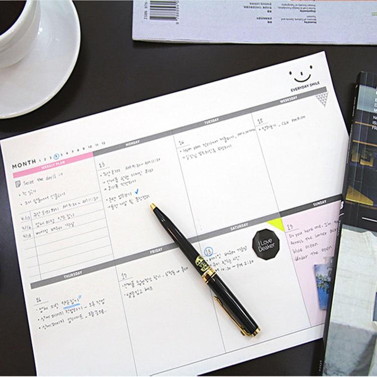 где купить A4 Planner Notebook Quality School Supplies Stationery Weekly Planner 60 Inner Pages Day Planner Stationery School Tools дешево