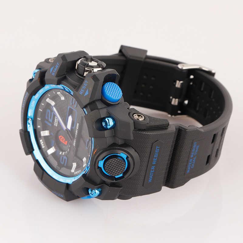 9fc0b5ebd458 ... Estilo G Shock Relojes hombres ejército militar Reloj para hombre Reloj  Digital Led Reloj de pulsera