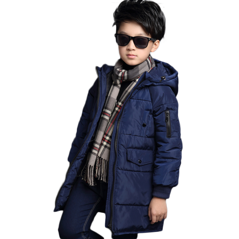 Children's Clothing winter jacket for boys parka boy coat kid winter In the long section of cotton children's winter jackets 30# 2017 women in the long down middle school students winter cotton thickened slim waist coat on behalf of the
