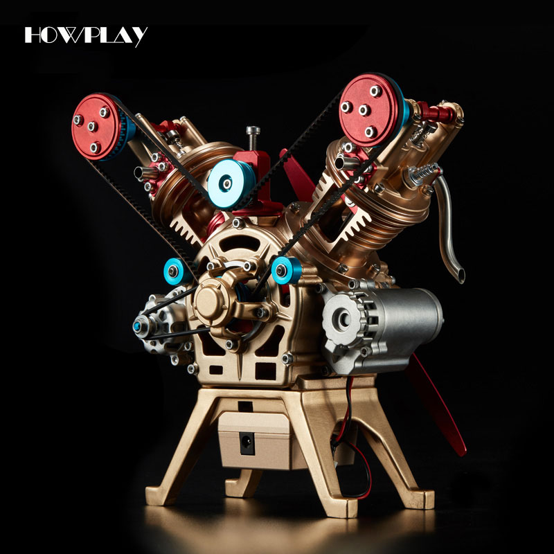 HowPlay Engine model V2 metal mechanical assembly model souptoys assembly toy teaching Children Educational Toy Collection gift