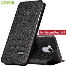 Xiaomi redmi 4 pro Простые case 5.0 дюймов Xiaomi redmi 4 case флип кожаный Mofi оригинальный case utral тонкий металл силиконовые назад redmi4(China (Mainland))