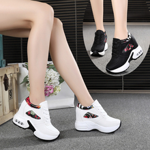 US $11.66 30% OFF|2019 Women Autumn Casual Platform Shoes Fashion High Heels Woman Wedges Sneakers Shoes 10CM Heigh Increasing Outdoor White Shoes-in Women's Vulcanize Shoes from Shoes on AliExpress - 11.11_Double 11_Singles' Day
