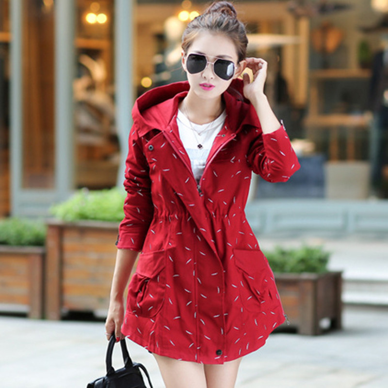 2018 New Fashion Hot Selling Popular Jacket Leisure Female Printing Women Coats Windbreaker Long Sleeve Spring Jacket TR002