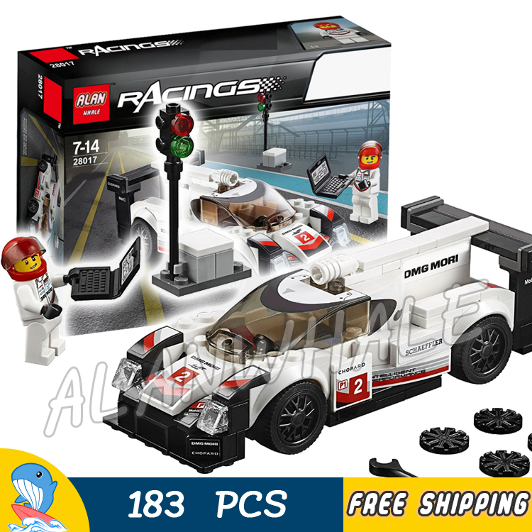 183pcs Speed Champions Super Hybrid City White Racing Car Model Building Blocks 28017 Assemble Toys Bricks Compatible With Lego
