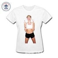 2017 Hipster Grund Tops Lustige Miley Cyrus Eis Musik TWERK BANGERZ Baumwolle T-shirt für frauen