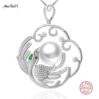 Yinfeng Luxury Large Phoenix Pendant Necklace Jewelry 12 13mm Big Natural Freshwater Pearl With Real
