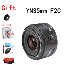 Yongnuo 35mm Lens YN35mm F2 lens for Canon Wide-angle Large Aperture Fixed Auto Focus Lens EF Mount EOS Camera EOS 5DIII 750D
