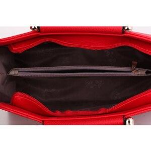 Image 4 - Mode Handtasche 2020 Neue Frauen Leder Tasche Große Kapazität Schulter Taschen Casual Tote Einfache Top griff Hand Taschen Deer decor
