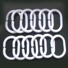 Shower Curtain Professional Hooks Rings Drape-Loop Plastic Home-Decoration Hanger Bath