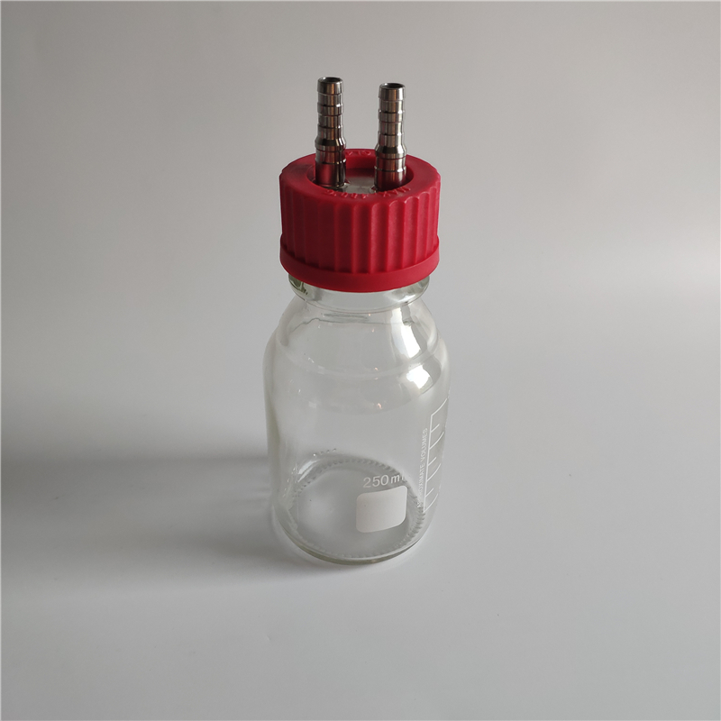 250ml clear biological anaerobic reaction bottle fermentation flask 250ml transparent glass reagent reaction bottle
