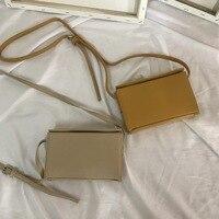 2019 pure color box bag Pu small square bag, solid color buckle single shoulder skew spanning bag