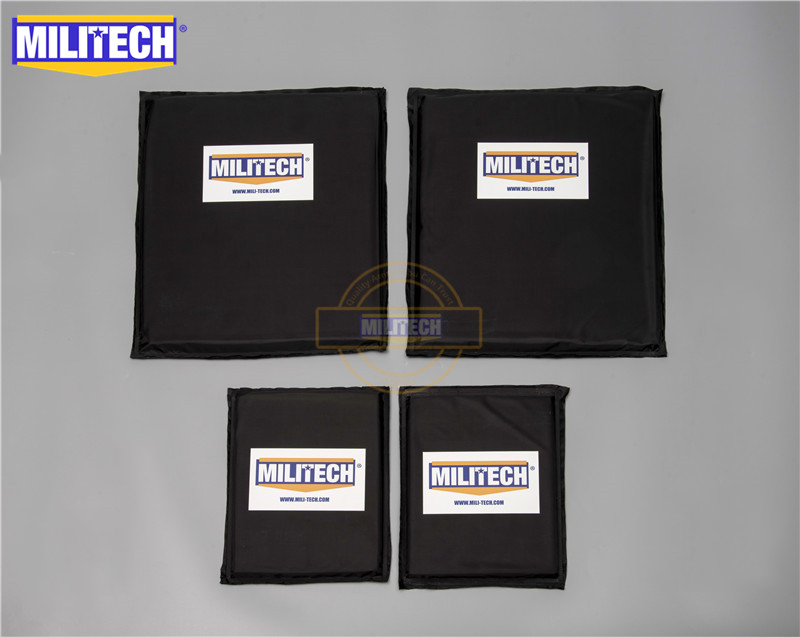 MILITECH 10 X 12 SC & 6 X 8 Pairs Set Aramid Ballistic Panel Bullet Proof Plate Inserts Body Armor Soft Armour NIJ Level IIIA 3A