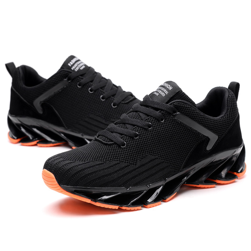 Breathable Men Sneakers Cushioning Running Shoes Man 2019 New Trend Fly Weaving Sport Shoes Blade Soles Jogging Athletic Shoes