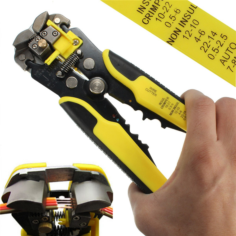 1PC Automatic Wire Striper Cutter Stripper Crimper Decrustation Pliers Terminal Tool Top Quality automatic cable wire stripper stripping crimper crimping plier cutter tool diagonal cutting pliers peeled pliers