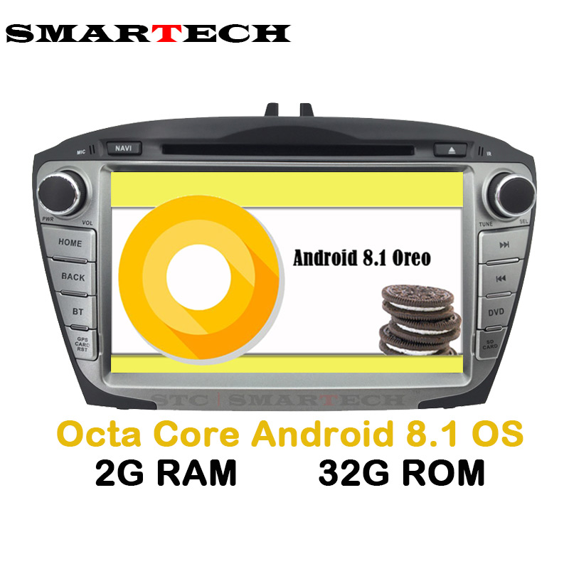 SMARTECH 2Din Octa Core Android 8.1 For Hyundai IX35 Tucson Car Radio Video Player Car Recorder Head Unit GPS Navigation Wifi