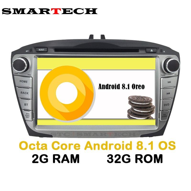SMARTECH 2Din Octa base Android 8.1 Pour Hyundai IX35 Tucson Voiture Radio Lecteur Vidéo De Voiture Enregistreur Autoradio Navigation GPS wifi
