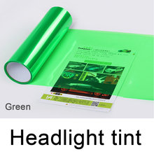 0.3*10m Roll PVC Headlight Tint Dark Green For Car Head Decoration DHL Free Shipping