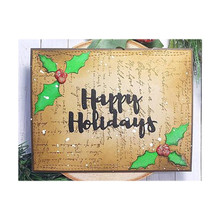 Naifumodo Happy Holidays Letter Metal Cutting Dies for Craft Scrapbooking Album Stencil Card Making New 2019