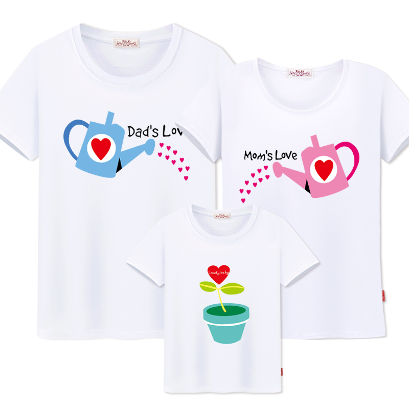 Mother And Daughter Clothes Cotton Family T-shirts father Son Baby girl Clothing new dad mom love shirts Family Matching Outfits