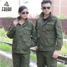 Military Uniform Hunting Clothing Camouflage Suits Long-Sleeve 100% Cotton Protective Clothing  Work Wear Thickening Suit