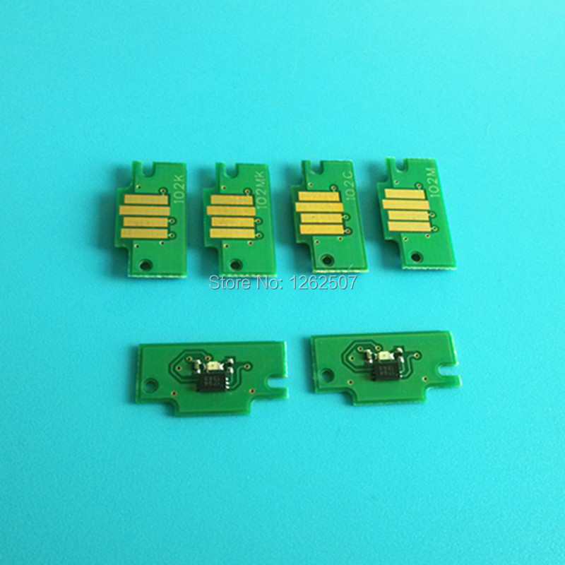 8Pcs Per Set Scc Imported Chip Reset Pfi 101 Cartridge Chips for Can0n Ipf 6000S Refill Ink Cartridge Printer Spare Parts
