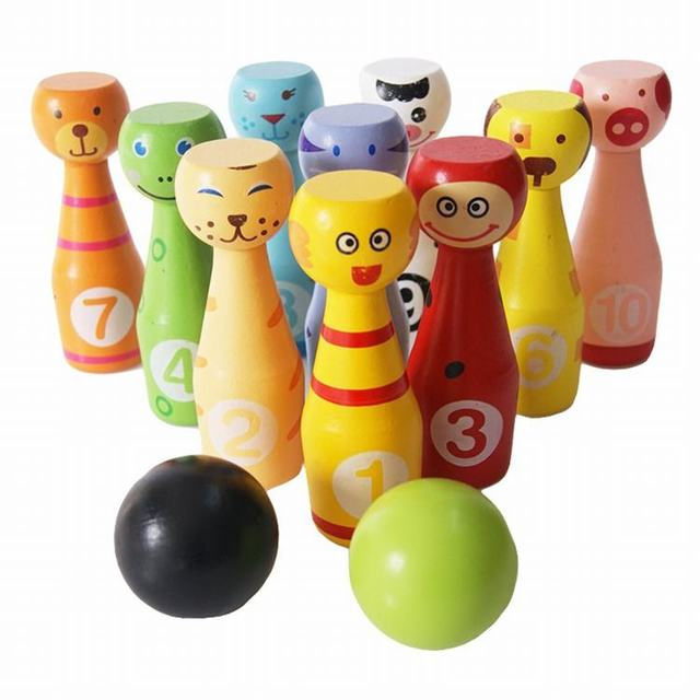 bola de bolos de madera juegos juguetes para nios creativo regalo de cumpleaos de interior deportes