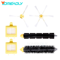3 Armed 6 Armed Side Brush Hepa Filters Bristle Brush Flexible Beater Brushes Kits For IRobot