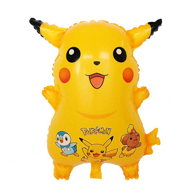 1psc/lot Cartoon Lovely Pikachu balloon aluminum foil balloons happy birthday decoration party supplies kids toys