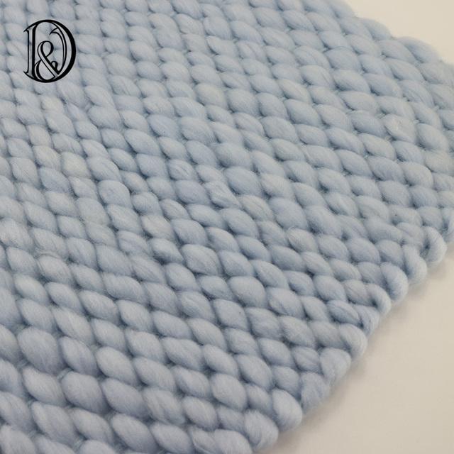45x40 cm Handwoven Basket Stuffer Relleno Suave Manta De Acrílico Bebé Recién Nacido Fotografía Contextos Estudio Fotográfico Apoyos Regalo de la Ducha