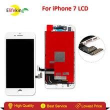 Elifeking 1 шт. хорошее качество Сенсорный экран для iPhone 7 4.7 дюймов ЖК-дисплей Дисплей замена без Dead Pixel с Черный и белый Цвет