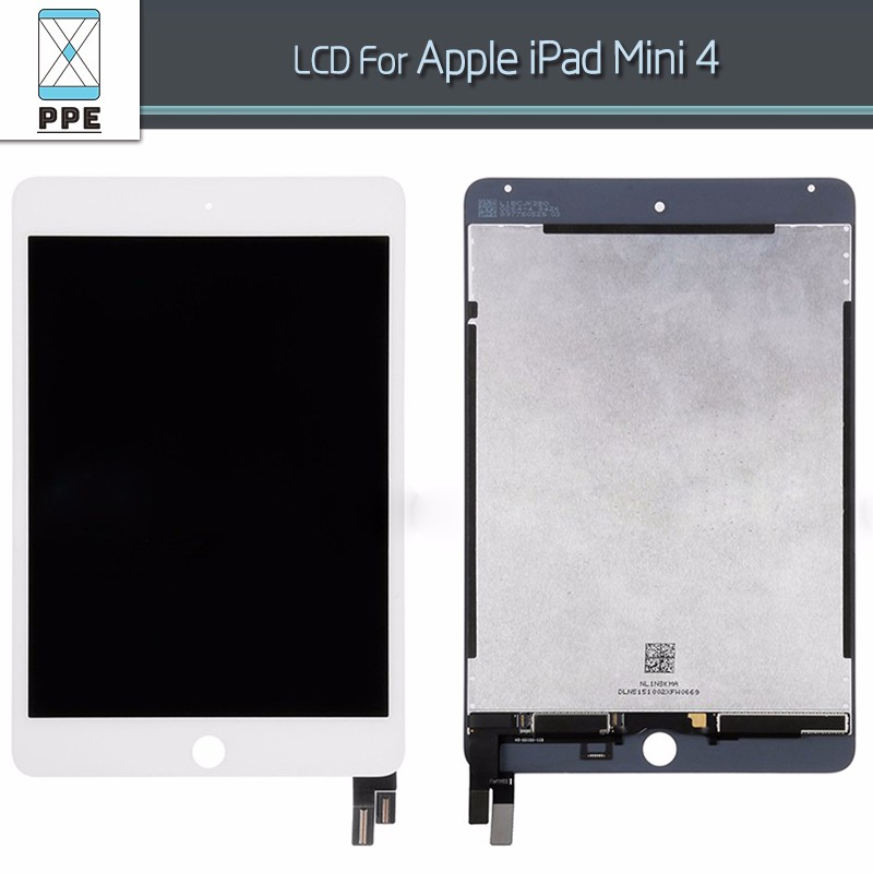 100% Tested LCD For Apple iPad Mini 4 LCD display with Touch screen Digitizer glass complete Assembly pantalla Replacement white black original lcd for apple ipad mini 4 lcd display touch screen digitizer glass bezel complete assembly pantalla repair