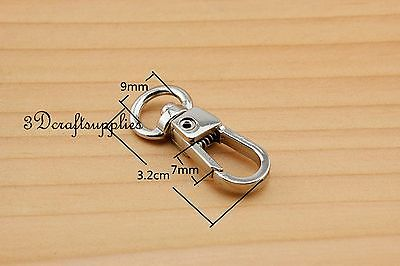 Lobster Clasps Clips Claw purse hooks Swivel snap hook nickel 9 mm 10pcs AT96 owner 52567 18 hooked snap swivel 9 шт