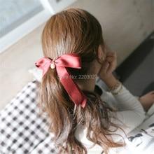 New Fashion Hair Ornaments Graceful Handmade Satin Bows 5 Word Hair Clip Hair Accessories For Women Jewelry