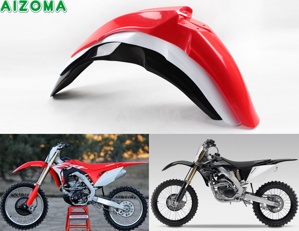 Supermoto Dirt Bike Offroad Motocross Front Fender Mudguards For Honda CRF450R CRF250R 2009 2013 CRF 450R CRF 250 R Mud Guards