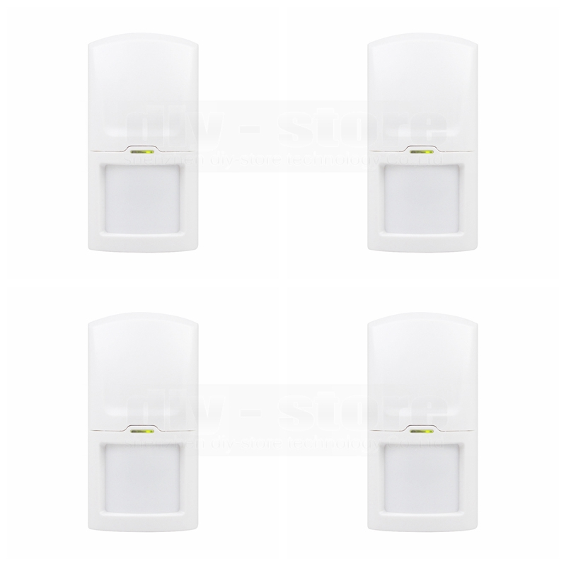 DIYSECUR 4pcs Wireless 433Mhz PIR Detector IR Motion Sensor for Our Related Home Alarm Home Security System wireless vibration break breakage glass sensor detector 433mhz for alarm system
