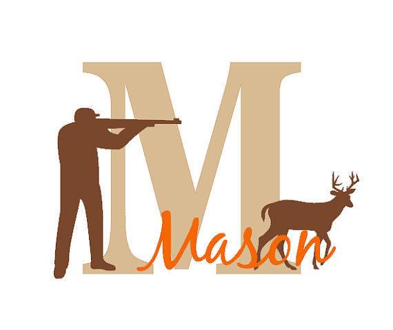 Online Shop Hunting Wall Decal, Hunting Decor, Boy, Nursery, Antlers ...