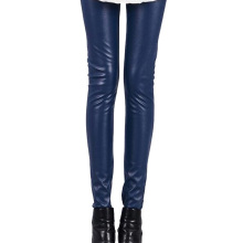 Women Hot Sexy Black Wet Look Faux Leather Leggings Slim Shiny Pants Plus size S M L XL XXL