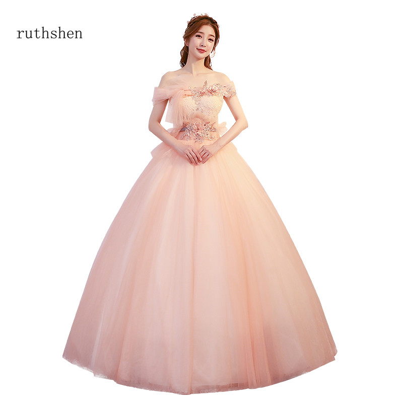 ruthshen 2018 New Special Occasion Prom Dresses Off The Shoulder Appliques  Beaded Girls Quinceanera Dresses For 15 Years-in Quinceanera Dresses from  ... 1fbea5d5f15e