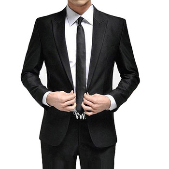 New Fashion Black White Wedding Suits 2 Piece Mens Suits Slim Fit (Jacket + Pants) Groomsman Groom Tuxedos Suits Business Suits