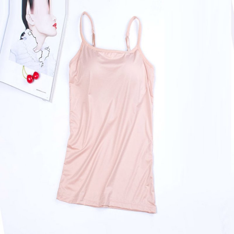 Summer Strap Slim Camisoles Women Sexy Sleeveless V Neck Camisole Solid Padded Bar Underwear Ladies Sling Tops in Tank Tops from Women 39 s Clothing