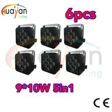цена на 4PCS/PACK Rechargeable 6x10W RGBW 4IN 1 QUAD wireless dmx battery powered led par,Slim PAR Light,Wedding/Event/Stage/Disco DJ