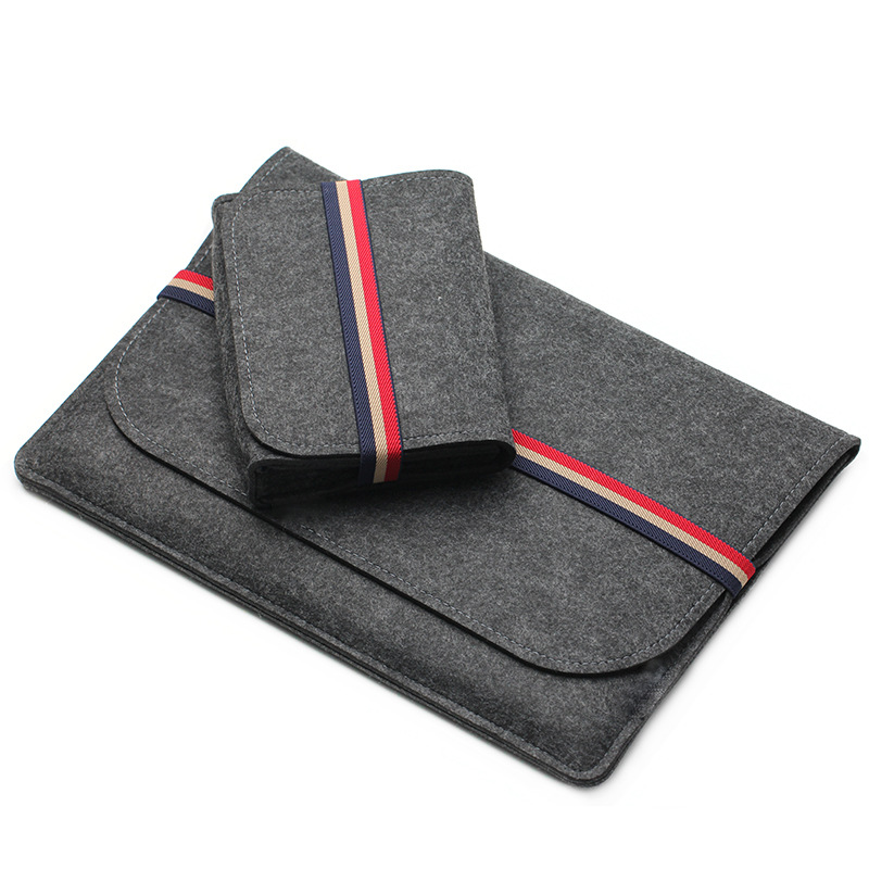 Wool Felt Sleeve Notebook Bag For Macbook Pro Retina 11 12 13 14 15 Case For Xiaomi Air 12.5 13.3 15.6 Surface Laptop 13.5 Cover