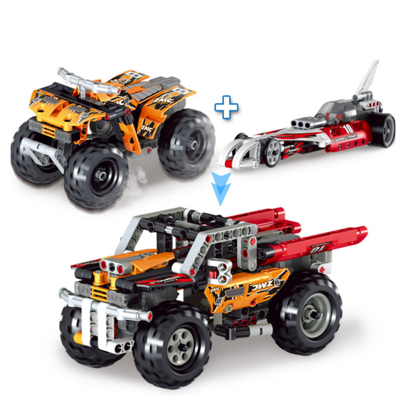 Qunlong Engineering Series Toy Children Racing Car Brick Blocks Compatible With Legoe Technic Car Educational Toys For Kids Gift