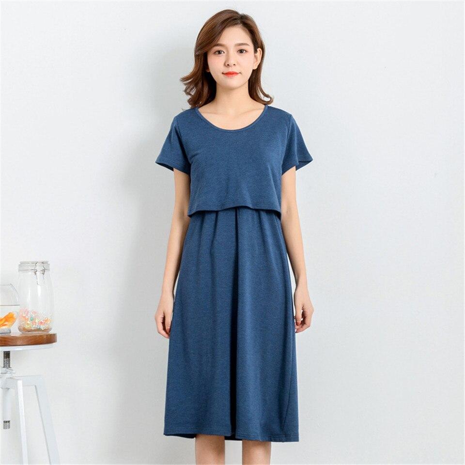 Women Long Dresses Maternity Nursing Dress For Pregnant Clothes Women Pregnancy Womens Dress Clothing Mother Nursing Wear M-XL