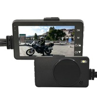 Dual Lens Motorcycle Action Camera DVR System Front Rear Waterproof Camera Recorder Motorcycle Dash Cam Camcorder