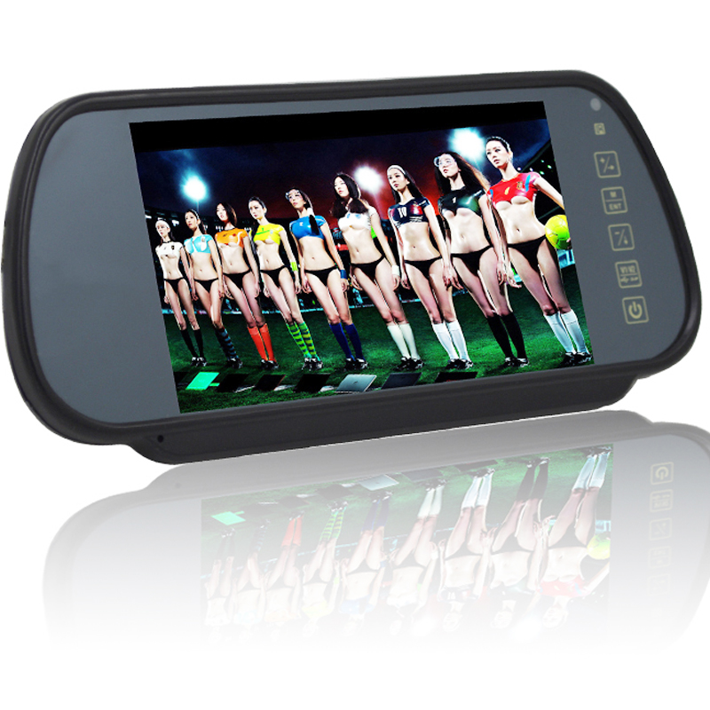 7Inch Screen TFT LCD Display Car Rear View Mirror Monitor Car Monitor Auto Vehicle Parking Rearview For Reverse HD Two Inputs