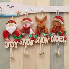 DOZZIOR 1PCS Xmas Gifts Christmas Decorations For Home Christmas Tree Hanging Ornaments Santa Claus With Letters Pendants Drop(China)